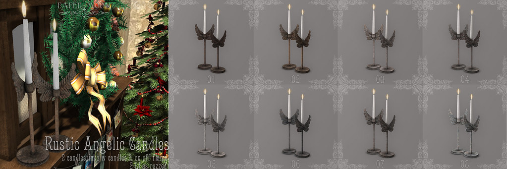 Rustic Angelic Candles poster Social Media