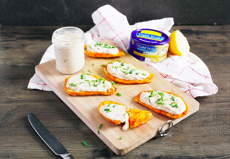 5. Creamy Tuna Sweet Potato Toast