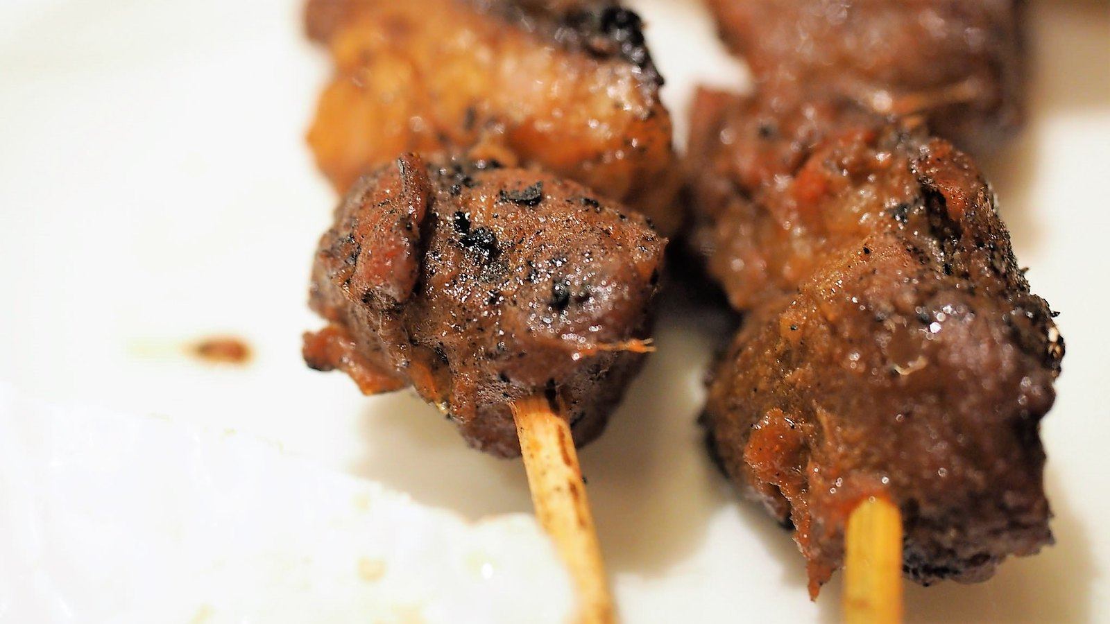 Yummy lamb and beef satay at Feast.