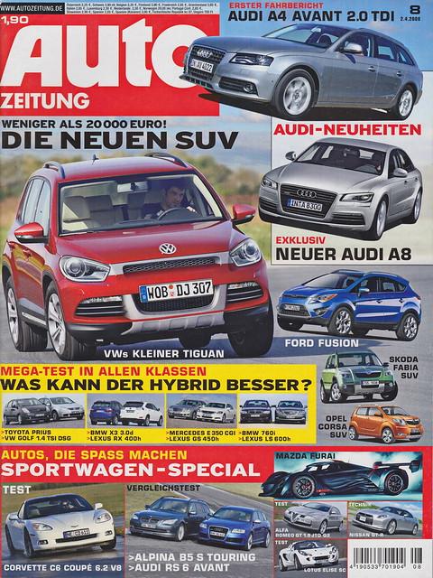 Auto Zeitung 8/2008