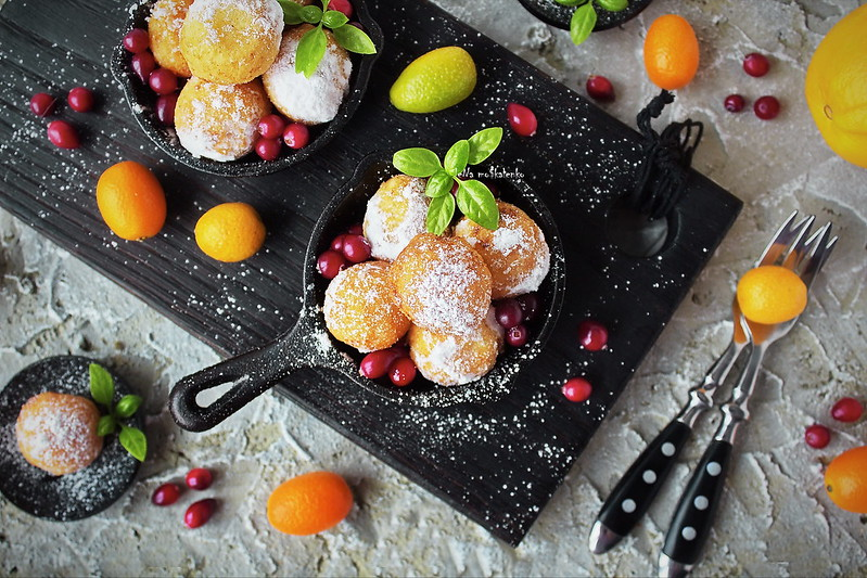 ...cheese balls stuffed with oranges and cranberries