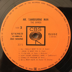 THE BYRDS:MR. TAMBOURINE MAN(LABEL SIDE-B)