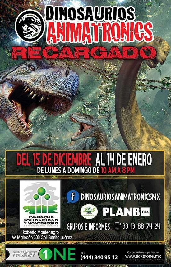 #DateAlaFuga #Cortesías / Dinosaurios Animatronics / Parque Solidaridad y Montenegro