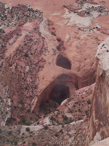 About the best view we got of Brimhall Arch, from above, Capitol Reef National Monument, Utah