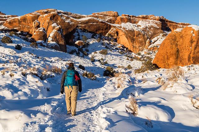Devil's Garden Winter Hiking