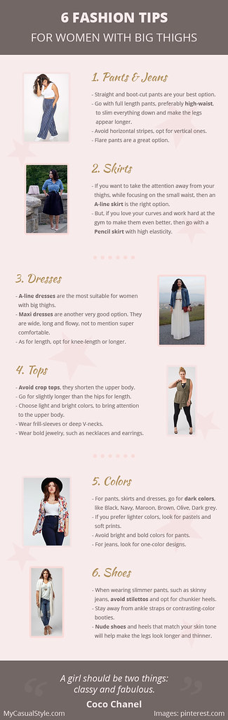 6 Fashion Tips for Women with Big Thighs [Infographic]