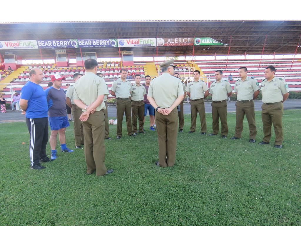 LINARES; Carabineros de Chile Realiza Encuentro Deportivo de Integración a la Comunidad Extranjera en Estadio Fiscal