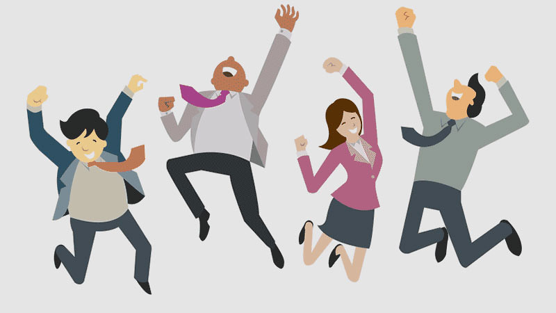 Salah satu cara untuk bahagia di tempat kerja adalah membuat kelompok.