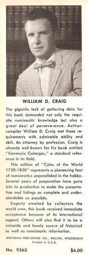William D. Craig dust jacket photo and bio
