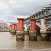 Old bridge pilings