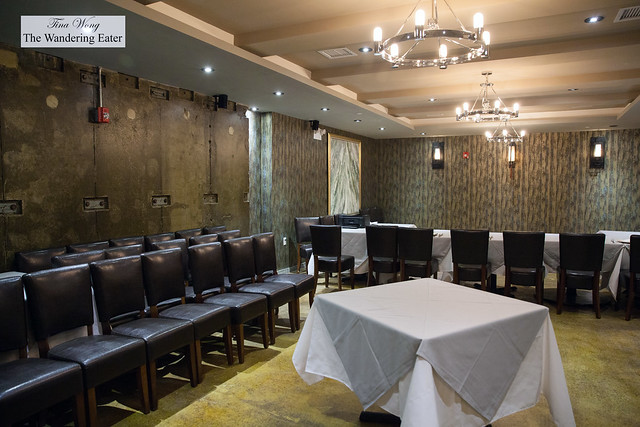 Private dining room that was a former safety deposit room for Bank of China
