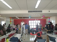 Games at Huawei office during Mid-Autumn moon festival 2