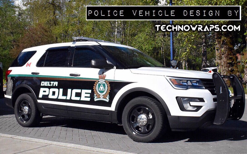 Police wrap vehicle design by TechnoWraps