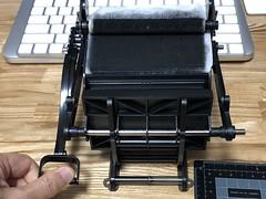 大人の科学 小さな活版印刷機 初刷り