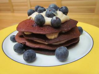 Blueberry 'Carob' Pancakes
