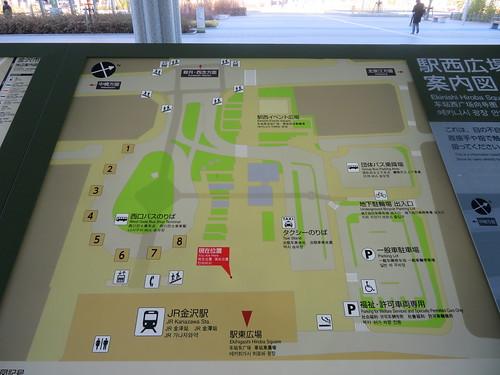 金沢競馬場のバスターミナル一覧