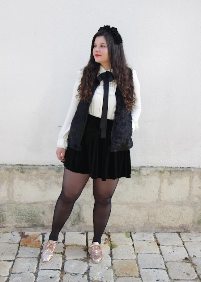 comment_porter_gilet_sans_manches_faux_fur_jupe_velours_conseils_blog_mode_la-rochelle_13