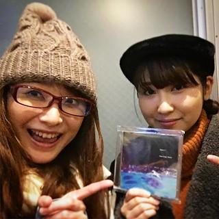 大屋朱里ちゃんとリハしてきた!!世界最速で新作CDお渡ししました!!12/24は朱里ちゃんも一緒に歌ってくれるよー!!