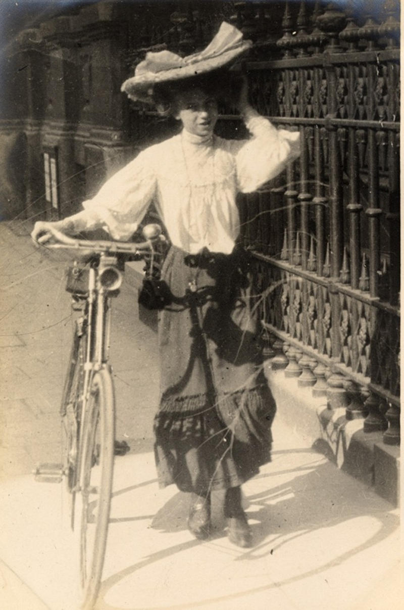 Hats could be hazardous to one's cycling, 1908