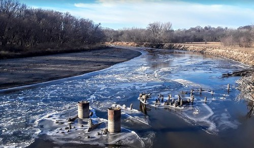 raccoonriver iowa greenecounty river ice winter bicycling thebikelife