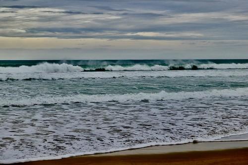 Tiempo de hoy en la playa de Zarautz