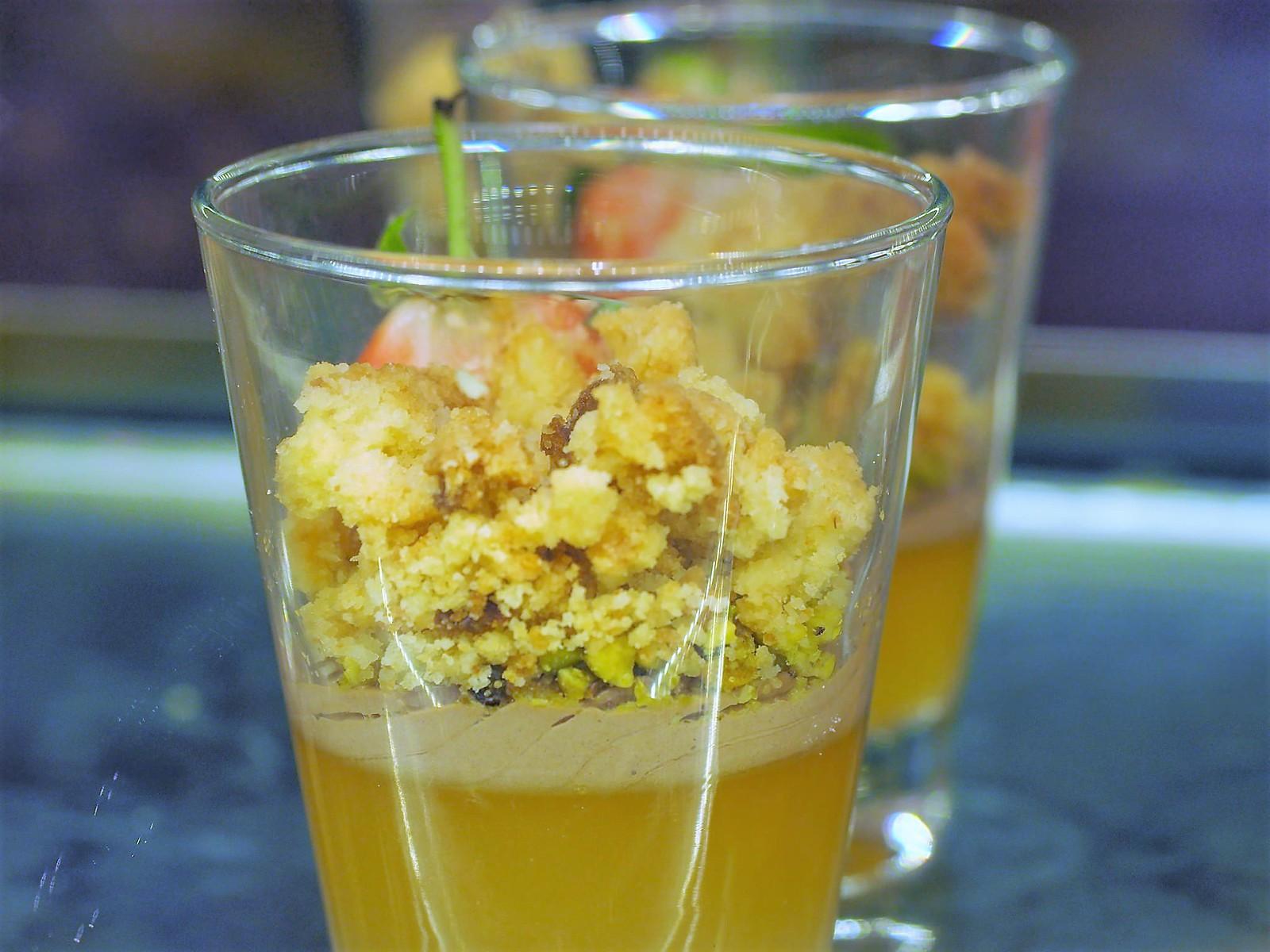 Dessert in glass