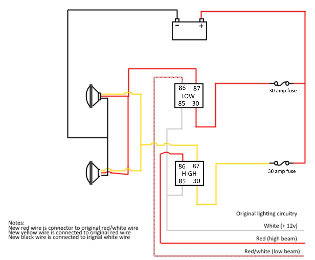 Is this headlight wiring upgrade daigram correct? - Geo ... Headlight Wiring Upgrade Diagram on