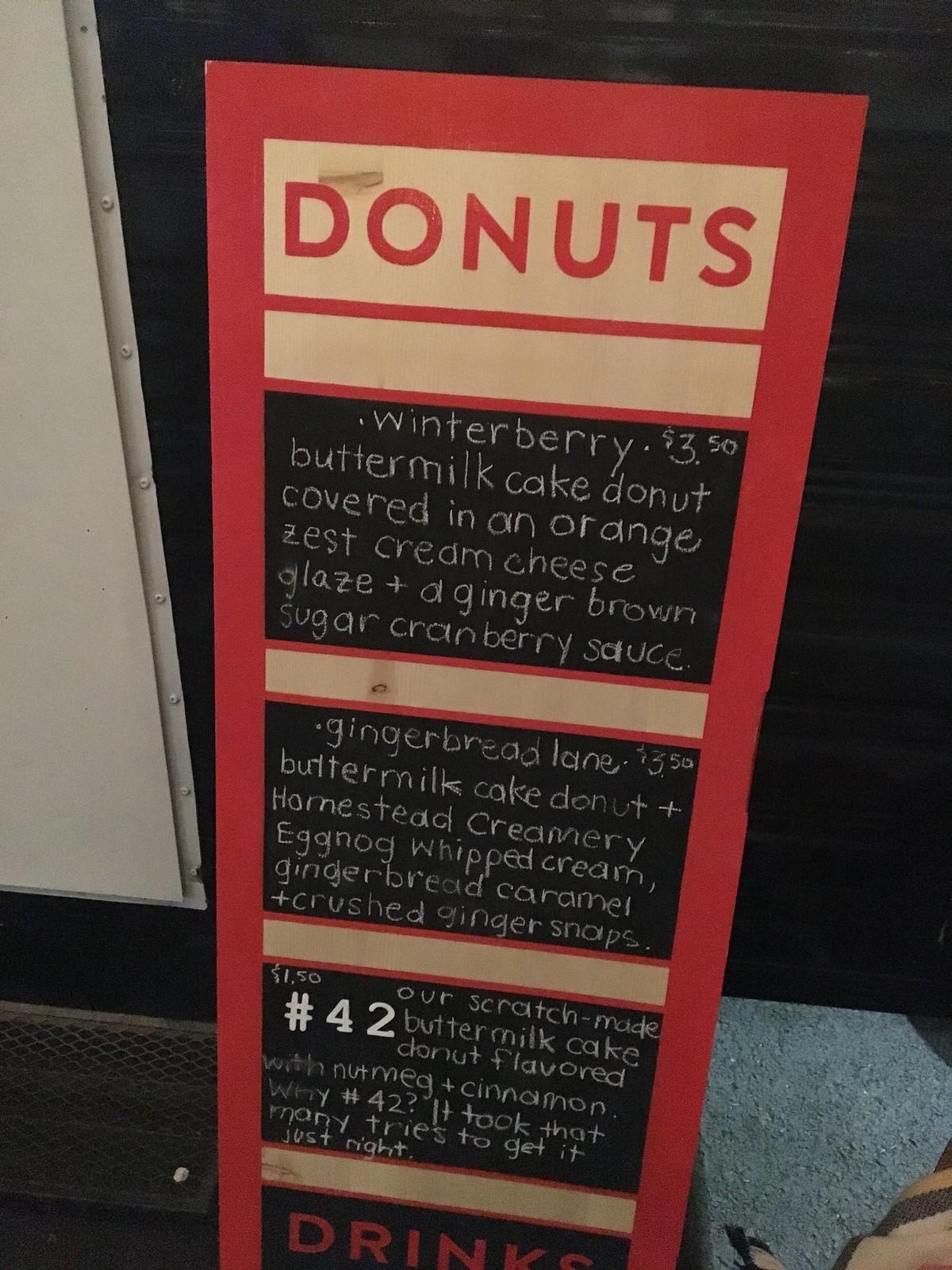 Vandalia Donut - winter flavors