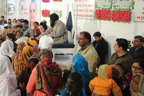 Devotees seeking blessings at Sant Nirankari Satsang Bhawan, Agar