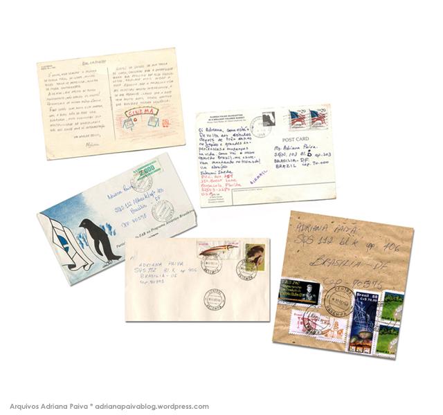 Cartas e envelopes - Arquivo da jornalista Adriana Paiva