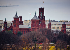 Smithsonian Castle viewed from The Newseum - Washington DC