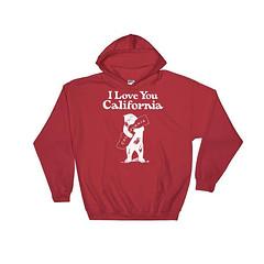 I Love You, California Hoodie, California T Shirt, California TShirt, California T-Shirt, California Tee, California Gifts, California State by 25VintagePlace
