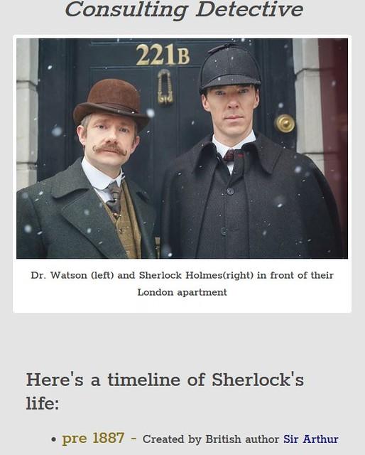 Sherlock Holmes Tribute Page