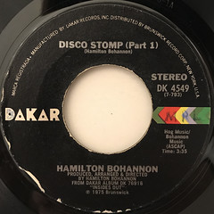 HAMILTON BOHANNON:DISCO STOMP(LABEL SIDE-A)