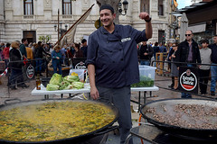 Traditional paella valenciana