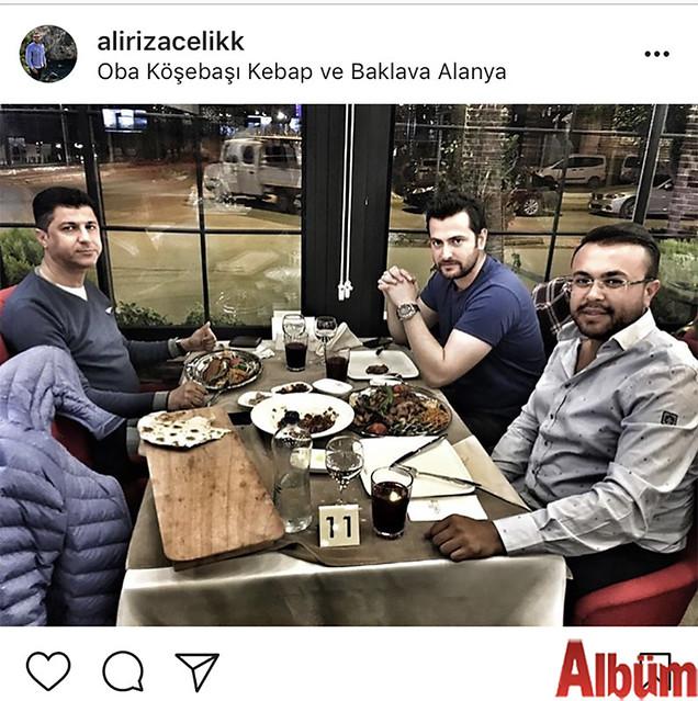 Ali Rıza Çelik, Nazmi Uyar ve Sercan Burtaçkıray ile birlikte Oba Köşebaşı Ocakbaşı'ndaydı.