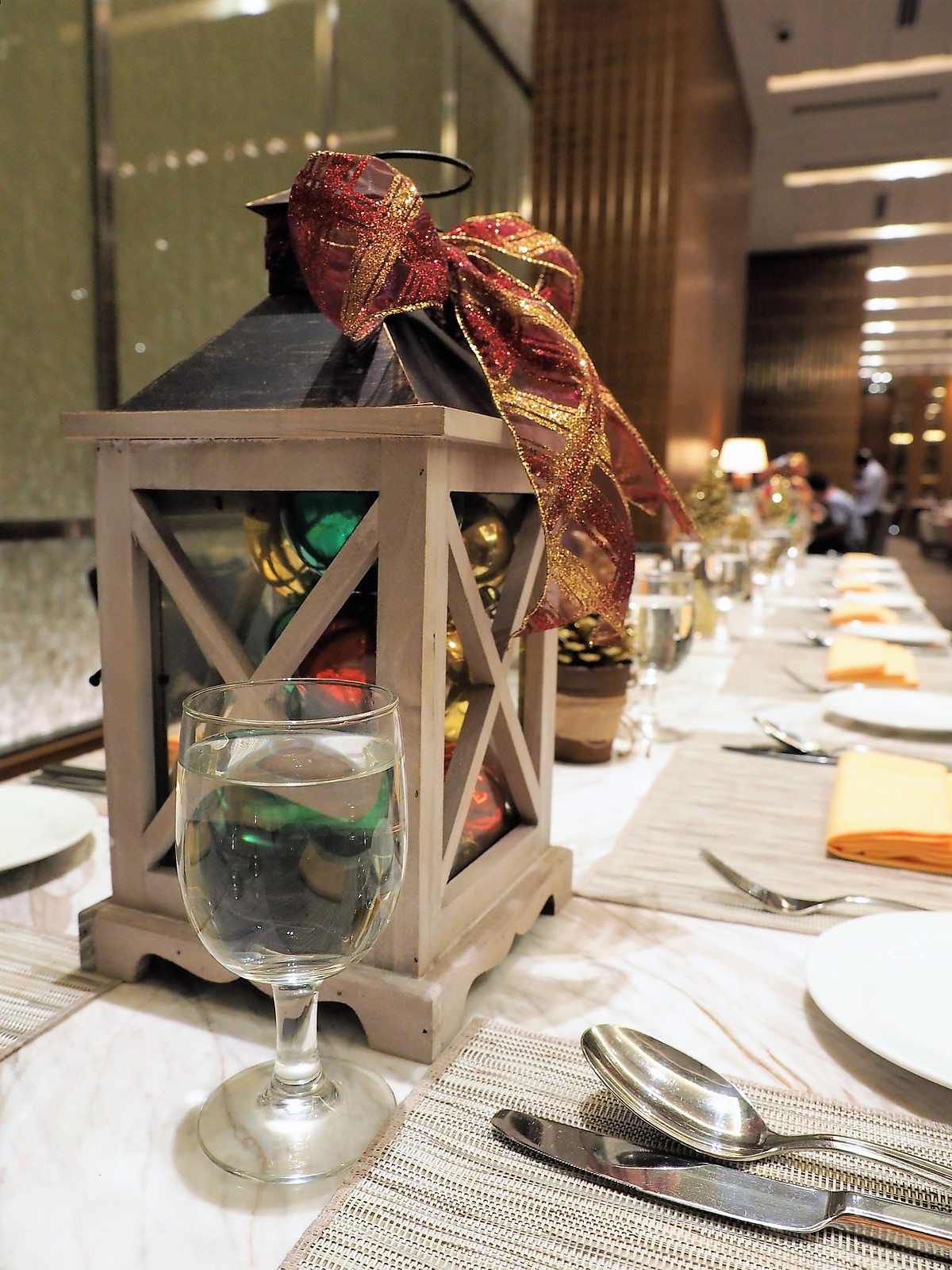 Christmas decoration on dining table at Feast @ Sheraton Petaling Jaya