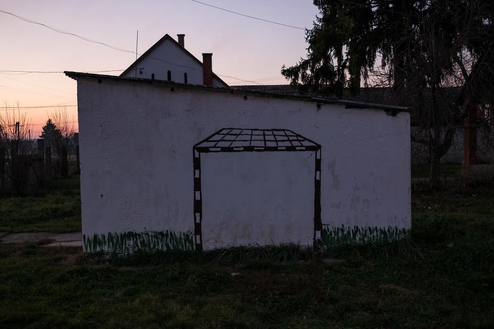 Focikapu a gilvánfai tanoda udvarán | Fotó: Magócsi Márton