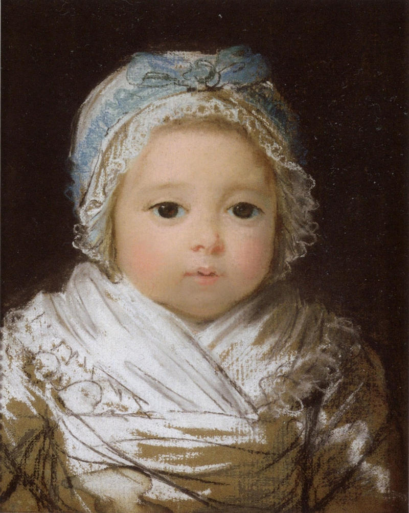 A baby, Portrait by Élisabeth-Louise Vigée-Le Brun, 1790