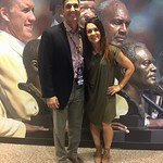 First Female NFL Coach Jen Welter with Paul - Canton, Ohio