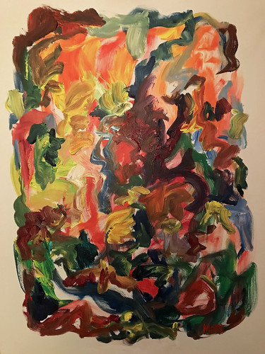 Susan Marx, 2017, Wandering Color, 48x36, acrylic on canvas