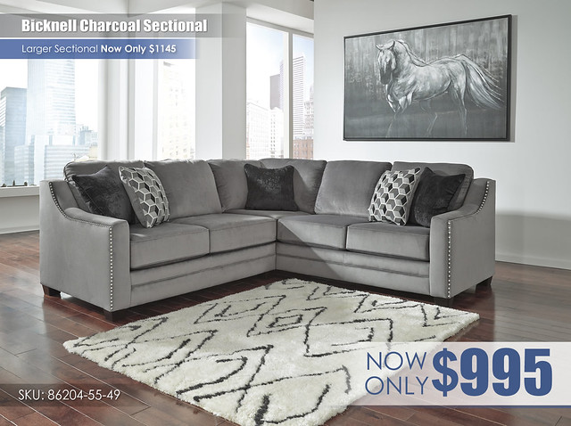 Bicknell Charcoal Secitonal 86204-55-49
