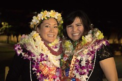 """The Kapiolani Community College nursing students at their pinning ceremony where each student calls upon their parents, spouse, child or friend to """"pin"""" them and share in their accomplishment."""