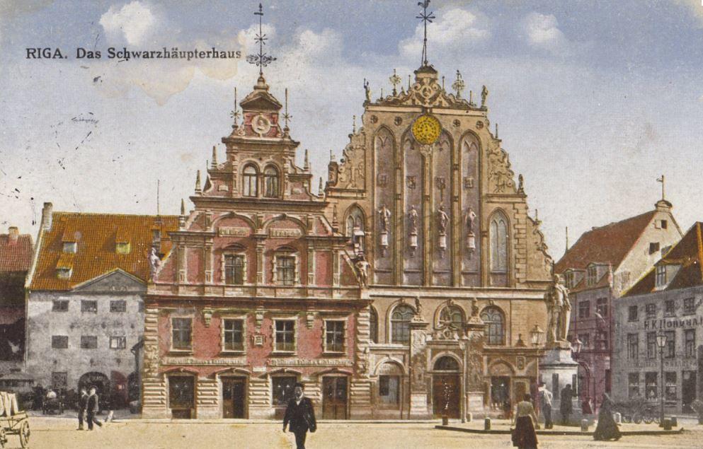 Le centre historique de Riga vers 1900.