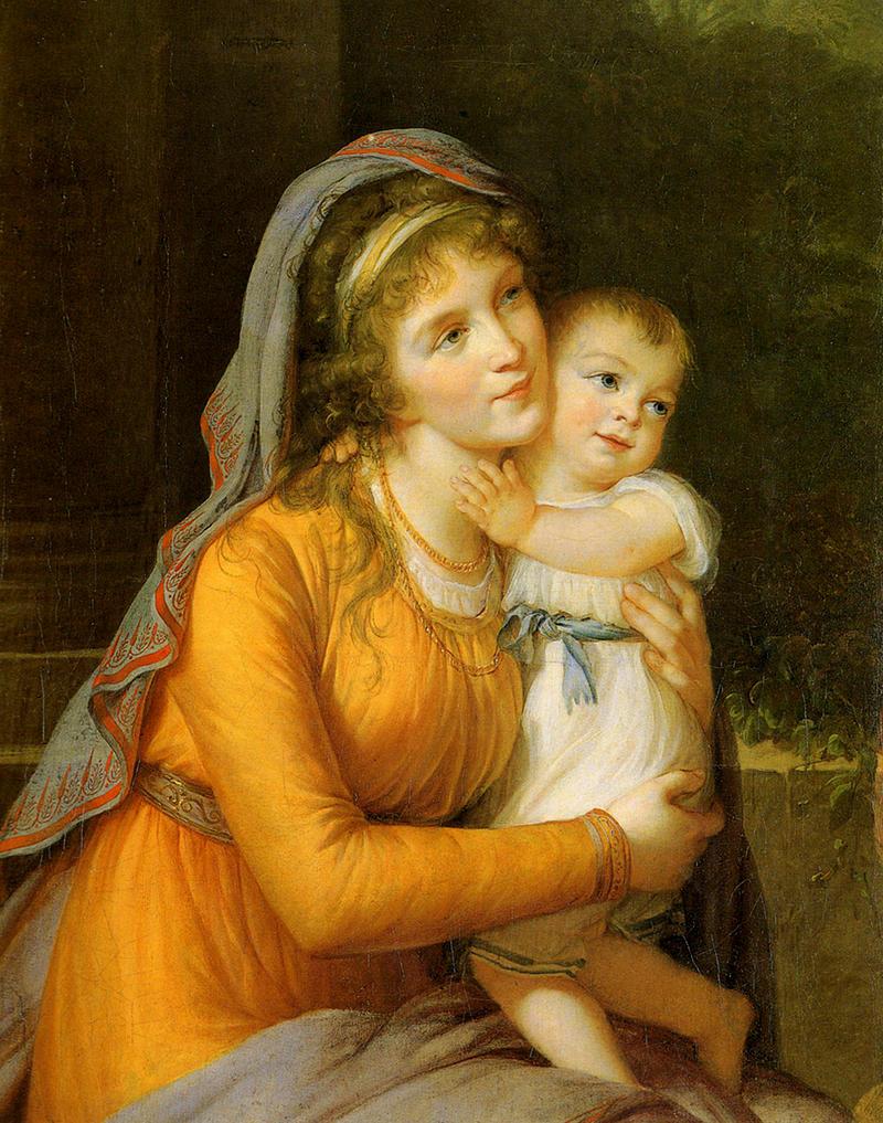 Baroness Anna Sergeevna Stroganova and Her Son Sergey by Élisabeth Vigée-Lebrun, 1793