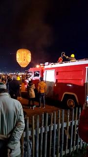 Balloon with firetruck
