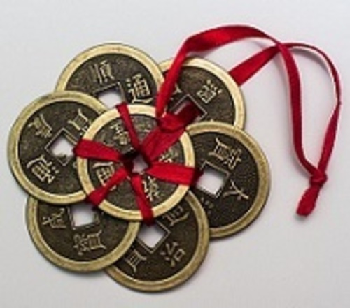 siete monedas chinas