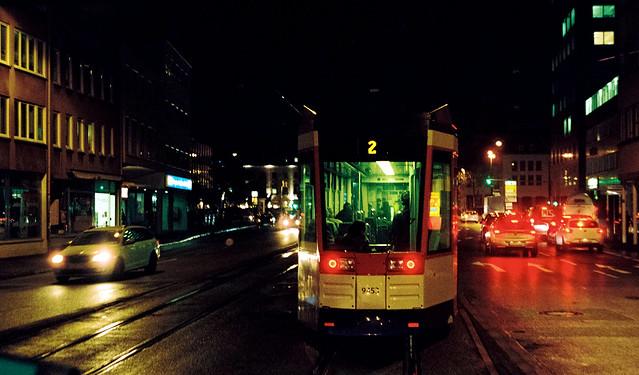 Heading home one rainy night