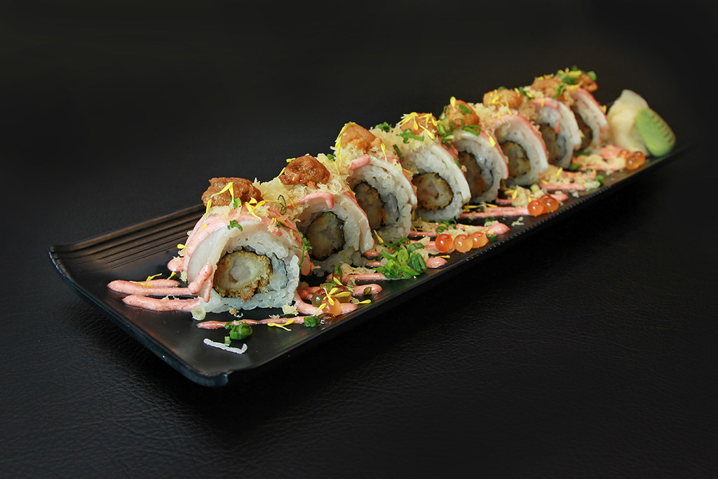 森米寿司,Hamachi&Ebi油炸炸弹(1200 x 800)