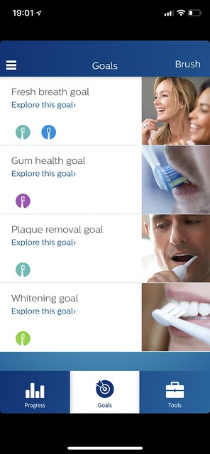 Philips Sonicare iOS App - Goals